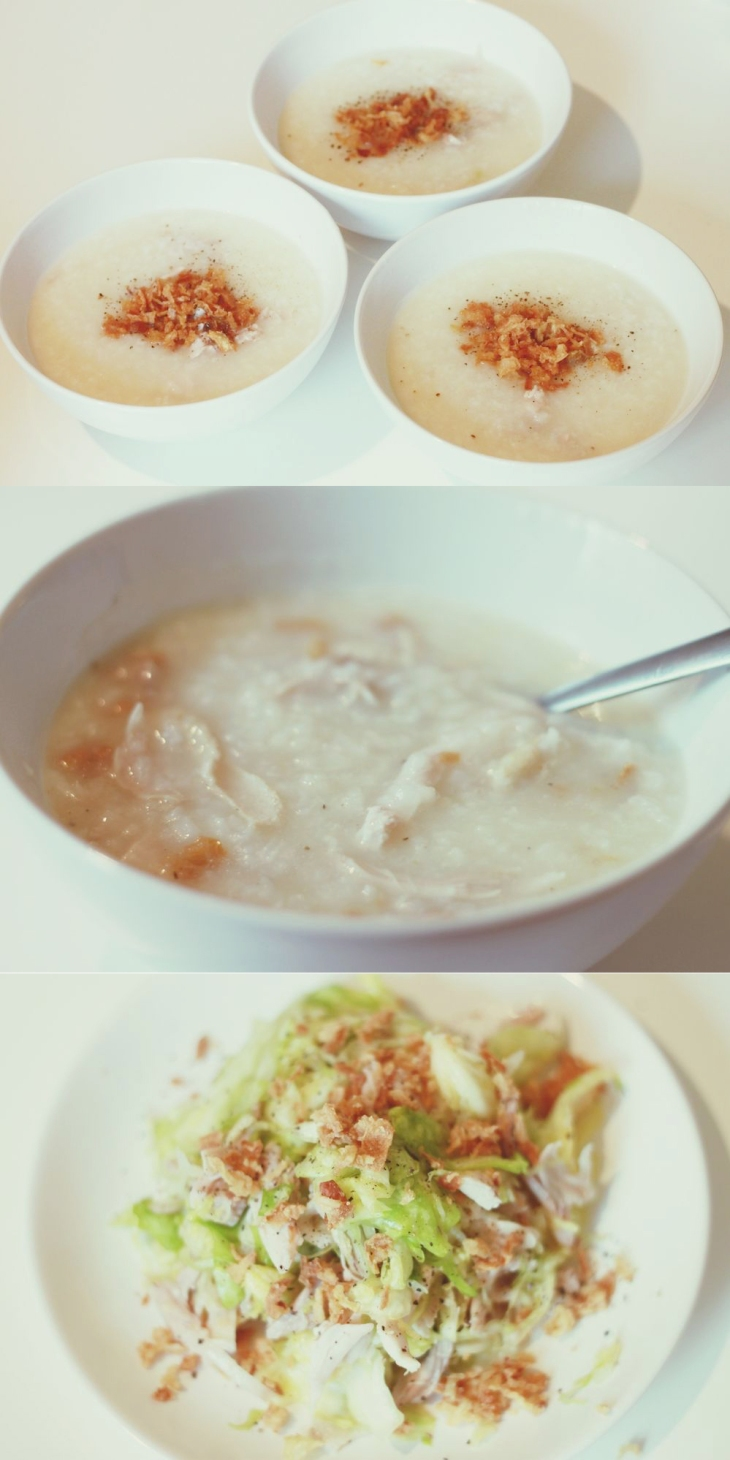 delicious delicious chicken porridge cooked by Oanh ♥