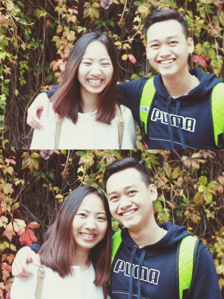 not a couple but still cute nonetheless :)) - Oanh & Binh
